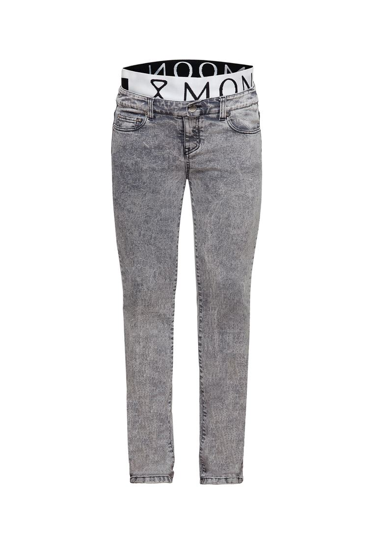 Skinny maternity jeans with elastic belt